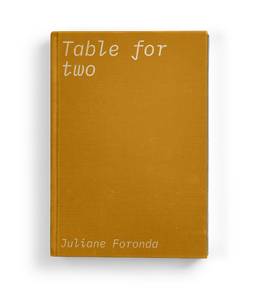 """Table for two"" by Juliane Foronda: Chapter Five of Koffler.Digital's summer 2020 exhibition ""A Matter of Taste"""